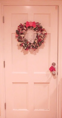 Redeemed Christmas - Hope Begins Here - Fabric Wreath